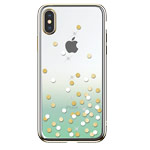 Чехол Devia Crystal Polka для Apple iPhone XS max (зеленый, пластиковый)