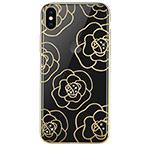 Чехол Devia Crystal Camellia для Apple iPhone XS (золотистый, пластиковый)