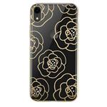 Чехол Devia Crystal Camellia для Apple iPhone XR (золотистый, пластиковый)