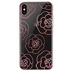 Чехол Devia Crystal Camellia для Apple iPhone XS max (розово-золотистый, пластиковый)