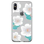 Чехол Devia Crystal Flowering для Apple iPhone XS (белый, гелевый)