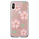 Чехол Devia Crystal Flowering для Apple iPhone XS (розовый, гелевый)