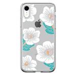 Чехол Devia Crystal Flowering для Apple iPhone XR (белый, гелевый)