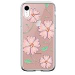 Чехол Devia Crystal Flowering для Apple iPhone XR (розовый, гелевый)