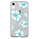 Чехол Devia Crystal Flowering для Apple iPhone XR (бирюзовый, гелевый)