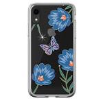 Чехол Devia Crystal Flowering для Apple iPhone XR (голубой, гелевый)
