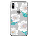 Чехол Devia Crystal Flowering для Apple iPhone XS max (белый, гелевый)