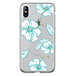 Чехол Devia Crystal Flowering для Apple iPhone XS max (бирюзовый, гелевый)