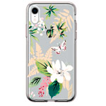 Чехол Comma Crystal Flowers для Apple iPhone XR (Butterfly White, гелевый)