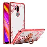 Чехол Yotrix CrystalCase для LG G7 ThinQ (розово-золотистый, гелевый)