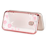 Чехол Yotrix CrystalCase для Samsung Galaxy J4 (розово-золотистый, гелевый)