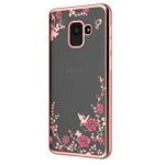 Чехол Yotrix CrystalCase для Samsung Galaxy J6 (розово-золотистый, гелевый)