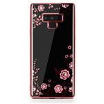 Чехол Yotrix CrystalCase для Samsung Galaxy Note 9 (розово-золотистый, гелевый)