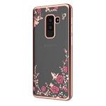 Чехол Yotrix CrystalCase для Samsung Galaxy A6 plus 2018 (розово-золотистый, гелевый)