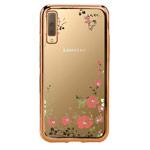 Чехол Yotrix CrystalCase для Samsung Galaxy A7 2018 (золотистый, гелевый)