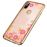 Чехол Yotrix CrystalCase для Xiaomi Mi 8 (золотистый, гелевый)