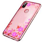 Чехол Yotrix CrystalCase для Xiaomi Mi 8 (розово-золотистый, гелевый)