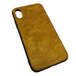 Чехол Yotrix Lanyard Case для Apple iPhone XS (коричневый, кожаный)