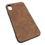 Чехол Yotrix Lanyard Case для Apple iPhone XS (темно-коричневый, кожаный)