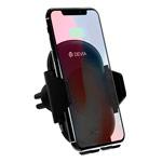 Беспроводное зарядное устройство Devia Smart Car Wireless Charger (черное, автомобильное, автозахват, Fast Charge, стандарт QI)