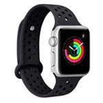Ремешок для часов Synapse Sport Dotted Band для Apple Watch (38 мм, черный, силиконовый)