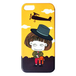 Чехол Discovery Buy Changeable Spirit Case для Apple iPhone 5 (Mr.Bean, пластиковый)