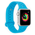 Ремешок для часов Synapse Sport Dotted Band для Apple Watch (38 мм, голубой, силиконовый)
