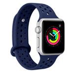 Ремешок для часов Synapse Sport Dotted Band для Apple Watch (38 мм, темно-синий, силиконовый)