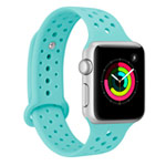 Ремешок для часов Synapse Sport Dotted Band для Apple Watch (38 мм, бирюзовый, силиконовый)