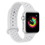 Ремешок для часов Synapse Sport Dotted Band для Apple Watch (42 мм, белый, силиконовый)