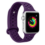 Ремешок для часов Synapse Sport Dotted Band для Apple Watch (42 мм, фиолетовый, силиконовый)