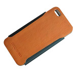 Чехол Discovery Buy Gentleman Fashion Leather Case для Apple iPhone 5 (оранжевый, кожанный)