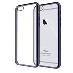 Чехол Yotrix GlitterSoft для Apple iPhone 6/6S (черный, гелевый)