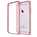 Чехол Yotrix GlitterSoft для Apple iPhone 6/6S (красный, гелевый)