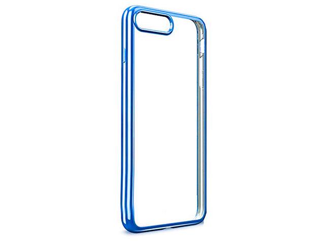 Чехол Yotrix GlitterSoft для Apple iPhone 7/8 (синий, гелевый)