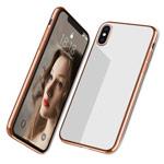 Чехол Yotrix GlitterSoft для Apple iPhone XS (золотистый, гелевый)