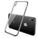 Чехол Yotrix GlitterSoft для Apple iPhone XR (черный, гелевый)