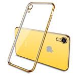 Чехол Yotrix GlitterSoft для Apple iPhone XR (золотистый, гелевый)