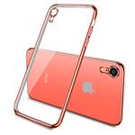 Чехол Yotrix GlitterSoft для Apple iPhone XR (розово-золотистый, гелевый)
