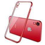 Чехол Yotrix GlitterSoft для Apple iPhone XR (красный, гелевый)