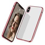 Чехол Yotrix GlitterSoft для Apple iPhone XS max (розово-золотистый, гелевый)