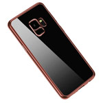 Чехол Yotrix GlitterSoft для Samsung Galaxy S9 (розово-золотистый, гелевый)