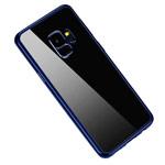Чехол Yotrix GlitterSoft для Samsung Galaxy S9 (синий, гелевый)