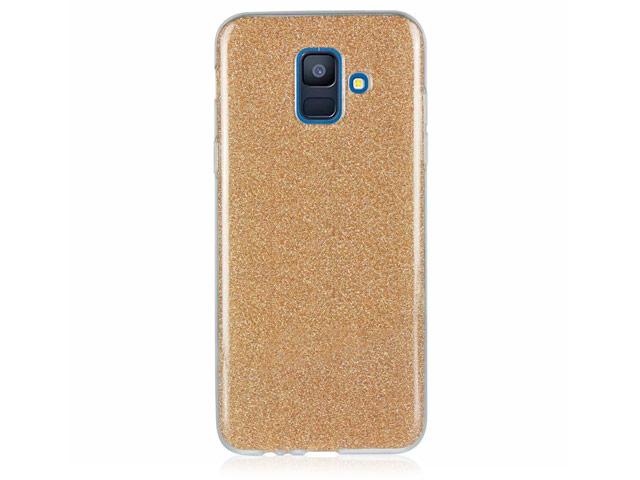 Чехол Yotrix BrightCase для Samsung Galaxy A6 2018 (золотистый, гелевый)