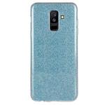 Чехол Yotrix BrightCase для Samsung Galaxy A6 plus 2018 (голубой, гелевый)