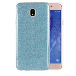 Чехол Yotrix BrightCase для Samsung Galaxy J4 (голубой, гелевый)
