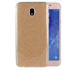 Чехол Yotrix BrightCase для Samsung Galaxy J4 (золотистый, гелевый)