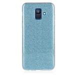 Чехол Yotrix BrightCase для Samsung Galaxy J6 (голубой, гелевый)