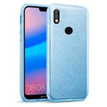 Чехол Yotrix BrightCase для Huawei P20 lite (голубой, гелевый)