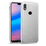 Чехол Yotrix BrightCase для Huawei P20 lite (серебристый, гелевый)